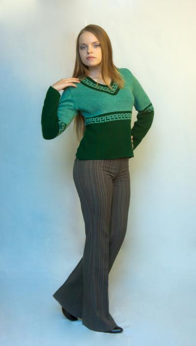 Полосатый пуловер доставка